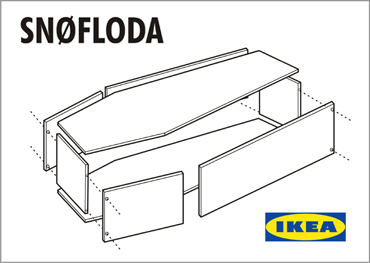 "Self Assemble Furniture ikea to launch ""ready to assemble"" casket. 