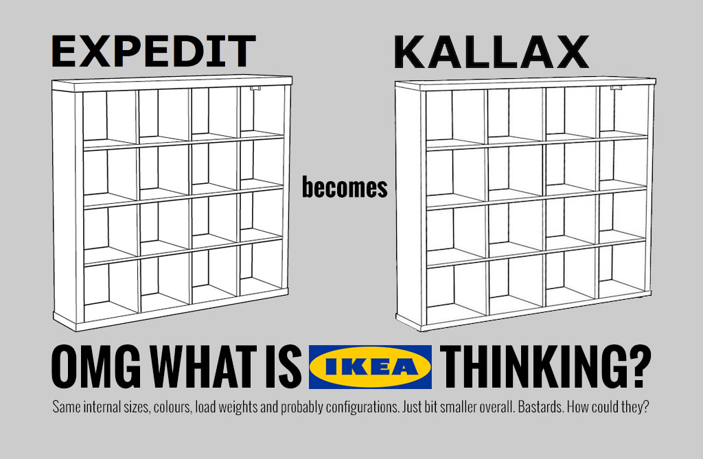 Latest News Ikea Expedit Shelving Gets Shelved Flat Pack